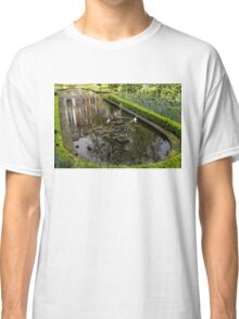 Backyard Tranquility - a Beautifully Landscaped Garden with a Fountain Classic T-Shirt