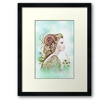 """""""THE ARIES"""" - Protective Angel for Zodiac Sign Framed Print"""