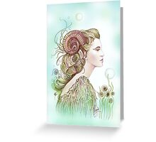 """THE ARIES"" - Protective Angel for Zodiac Sign Greeting Card"