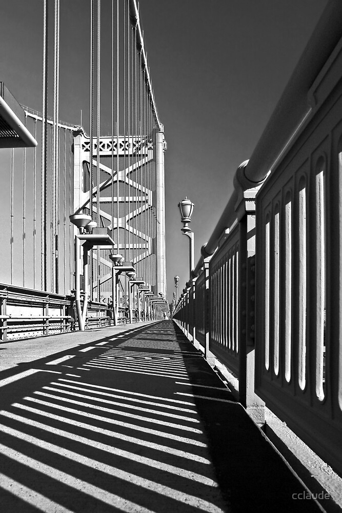 On the Ben Franklin Bridge by cclaude