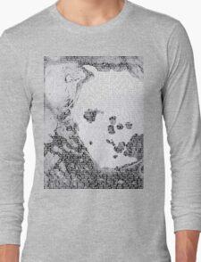 Radiohead - A Moon Shaped Pool Album Lyrics T-Shirt #2 Long Sleeve T-Shirt