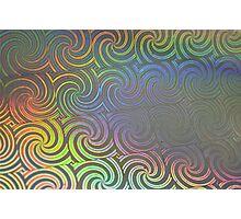 Colored Swirl Papttern Photographic Print