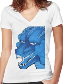 Blue dragon Women's Fitted V-Neck T-Shirt