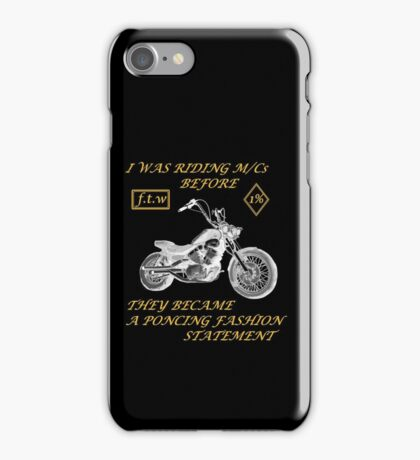 Motorcycle fashion statement Bikers iPhone Case/Skin