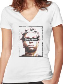 Free Kodak (Limited & Exclusive) Women's Fitted V-Neck T-Shirt