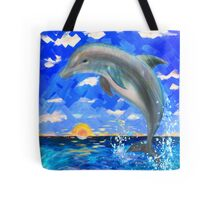 Baby Dolphin Radiant Sunrise Tote Bag