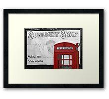 Sunlight Phone Box Framed Print