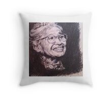Rosa Parks Tribute Throw Pillow