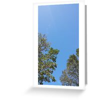 sky blue sky Greeting Card