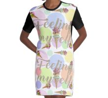 """Feeling Myself""  Graphic T-Shirt Dress"