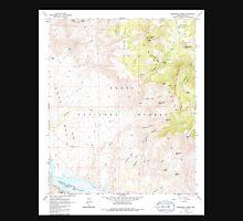 USGS TOPO Map Arizona AZ Greenback Creek 311577 1964 24000 Unisex T-Shirt