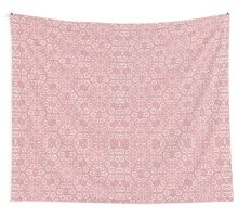 Pink Lace Pattern Wall Tapestry