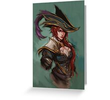 Captain Fortune - League of Legends Greeting Card