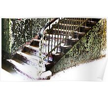 The snow-covered Stairwell........... Poster
