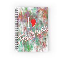 Ich Liebe Freilernen (Grün) Spiral Notebook
