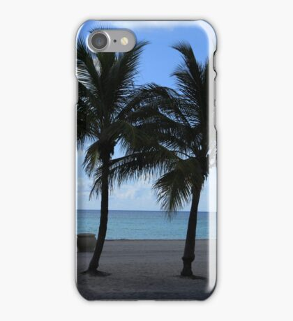 Palm Trees on a Beach iPhone Case/Skin