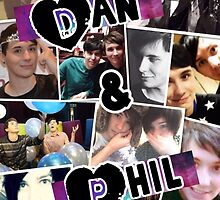 Dan and Phil Collage by xkittyxkawaiix