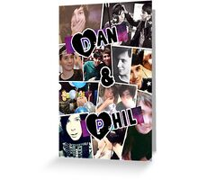 Dan and Phil Collage Greeting Card