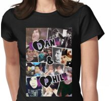 Dan and Phil Collage Womens Fitted T-Shirt