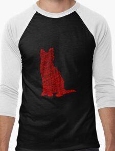 Yarn cat Men's Baseball ¾ T-Shirt