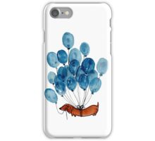 Dachshund dog and balloons iPhone Case/Skin