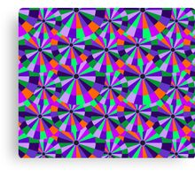 Green and Purple Futurist Circles Canvas Print