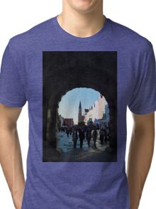 Gdansk old town in watercolor Tri-blend T-Shirt
