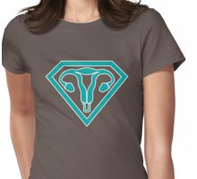Uterus Hero Teal Womens Fitted T-Shirt