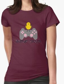 Gamer Chick V2 With Hearts With Black Text (Clothing & Sticker ) T-Shirt