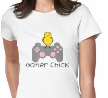 Gamer Chick V2 With Hearts With Black Text (Clothing & Sticker ) Womens Fitted T-Shirt