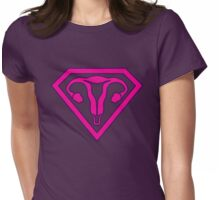 Uterus Hero Magenta Womens Fitted T-Shirt