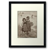 Harvest Girls Framed Print