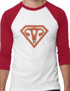 Uterus Hero Orange Men's Baseball ¾ T-Shirt