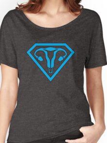 Uterus Hero Blue Women's Relaxed Fit T-Shirt