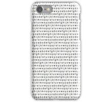 Alphabet Pattern iPhone Case/Skin