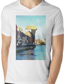 Gdansk old town in watercolor Mens V-Neck T-Shirt