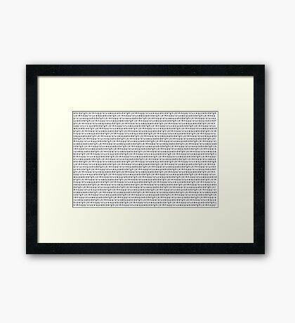 Alphabet Pattern Framed Print