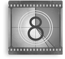 Vintage Countdown Film Canvas Print