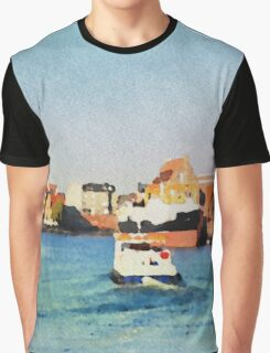 Gdansk old town in watercolor Graphic T-Shirt