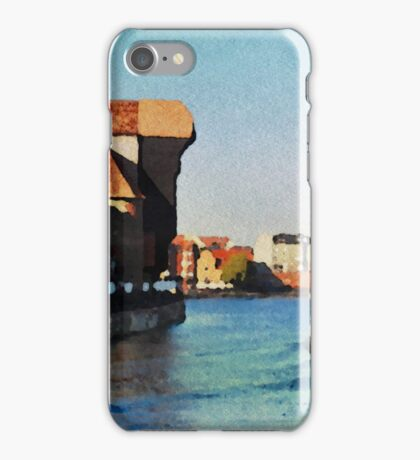 Gdansk old town in watercolor iPhone Case/Skin