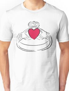 Claddagh Ring - A Token of Love Unisex T-Shirt