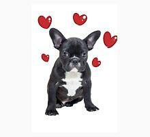French Bulldog Red Hearts Valentine Day Anniversary Unisex T-Shirt