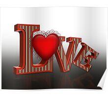 LOVE 3D pop art Poster