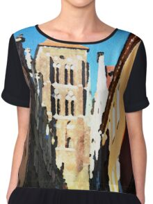 Gdansk old town in watercolor Chiffon Top