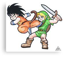 Kid Goku vs. Kid Link Canvas Print