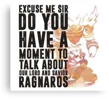 Ragnaros-Game wordart Canvas Print