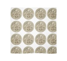 US one dime coin (ten cents) isolated on white background  Scarf