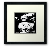Pussy Pirate Framed Print