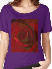 Big Red Rose Women's Relaxed Fit T-Shirt