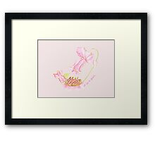 It is a girl Framed Print